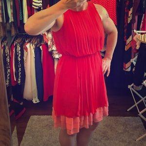Coral Sleeveless dress